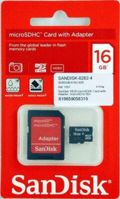 Карта пам'ятi SANDISK microSDHC 16GB Class 4 + SD ad 2