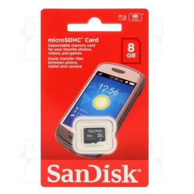 Карта пам'ятi SANDISK microSDHC 8GB Class 4 no SD ad 2