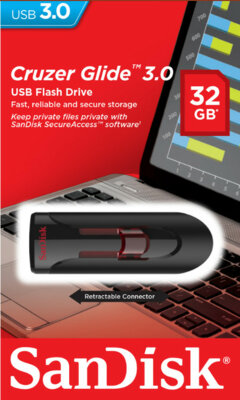 Накопичувач SANDISK Cruzer Glide 32 Gb USB 3.0 3