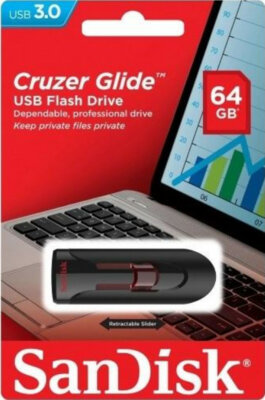 Накопитель SANDISK Cruzer Glide 64 Gb USB 3.0 3