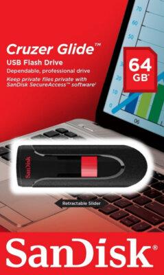 Накопитель SANDISK Cruzer Glide 64 Gb USB Black 3