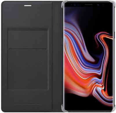 Чехол Samsung Leather Wallet Cover Black для Galaxy Note 9 N960 3