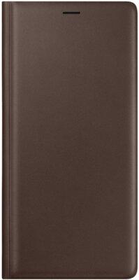Чехол Samsung Leather Wallet Cover Brown для Galaxy Note 9 N960 1