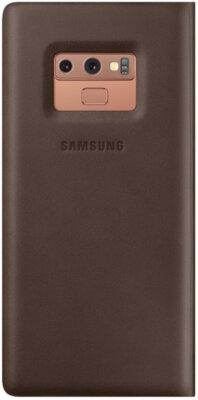 Чехол Samsung Leather Wallet Cover Brown для Galaxy Note 9 N960 2