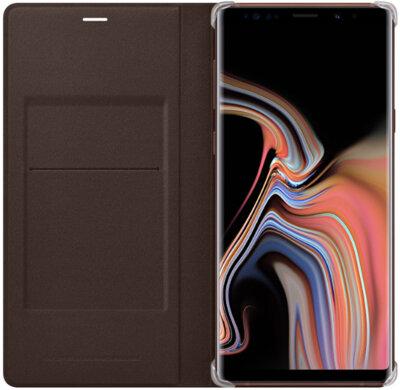 Чехол Samsung Leather Wallet Cover Brown для Galaxy Note 9 N960 3