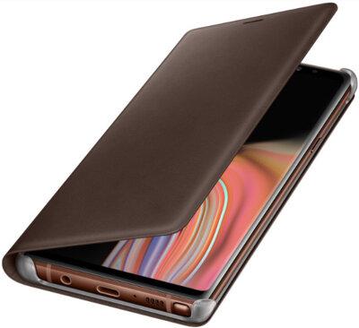 Чехол Samsung Leather Wallet Cover Brown для Galaxy Note 9 N960 4