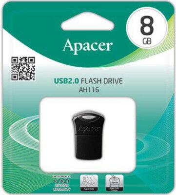 Накопитель APACER AH116 8GB Black 3