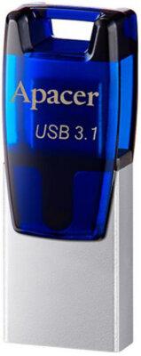 Накопичувач APACER AH179 16GB OTG Mobile USB 3.1 Blue 1
