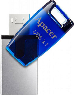 Накопичувач APACER AH179 16GB OTG Mobile USB 3.1 Blue 2