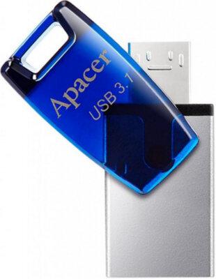 Накопичувач APACER AH179 16GB OTG Mobile USB 3.1 Blue 3
