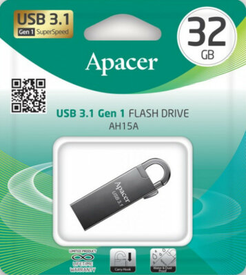 Накопитель APACER AH15A 32GB USB3.1 Ashy 5