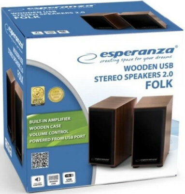 Акустична система 2.0 Esperanza Speakers EP122 Wood 3