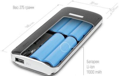 Мобiльна батарея ColorWay 11000 mAh Black 55075 7
