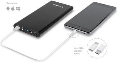 Мобiльна батарея ColorWay 10000 mAh Black QC 3.0 55071 3
