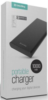 Мобiльна батарея ColorWay 10000 mAh Black QC 3.0 55071 7