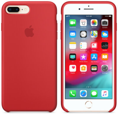 Чохол Apple Silicone Case PRODUCT RED для iPhone 8 Plus/7 Plus 2