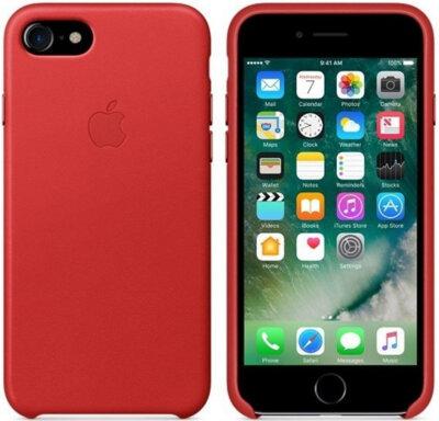Чехол Apple Leather Case Product Red для iPhone 7 2