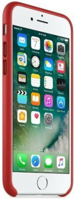 Чехол Apple Leather Case Product Red для iPhone 7 3