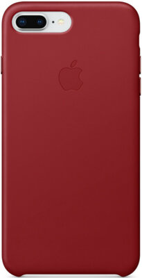 Чохол Apple Leather Case PRODUCT RED для iPhone 8 Plus/7 Plus 1