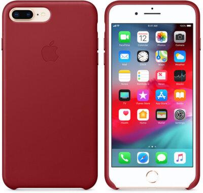 Чохол Apple Leather Case PRODUCT RED для iPhone 8 Plus/7 Plus 2