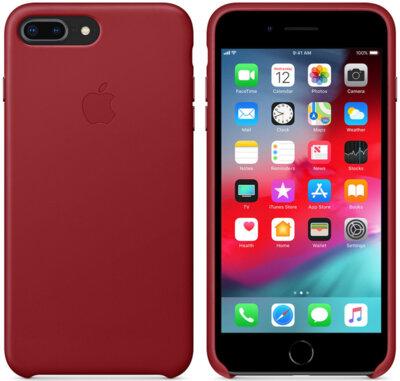 Чохол Apple Leather Case PRODUCT RED для iPhone 8 Plus/7 Plus 3
