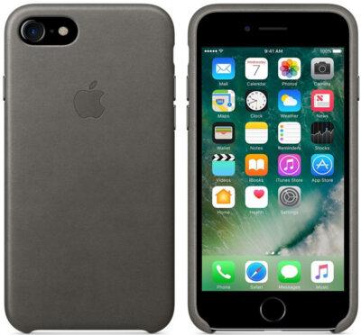 Чехол Apple Leather Case Storm Gray для iPhone 7 2