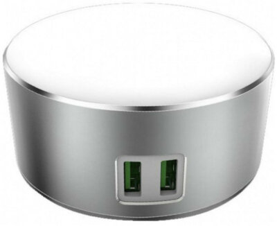 Сенсорний LED світильник/зарядний пристрій ColorWay USB CHARGER 2X USB 7А (CW-CHL22A) 1