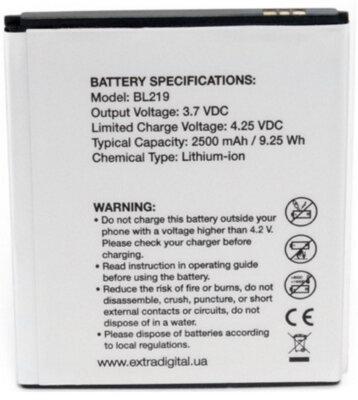 Акумулятор ExtraDigital для Lenovo BL219 2