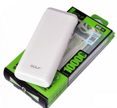Мобильная батарея GOLF GF-D5S LED 10000 mAh White 2