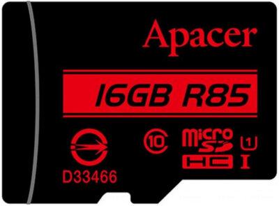 Карта пам'яті Apacer microSD 16GB Class 10 UHS-I R85 + adapter 2