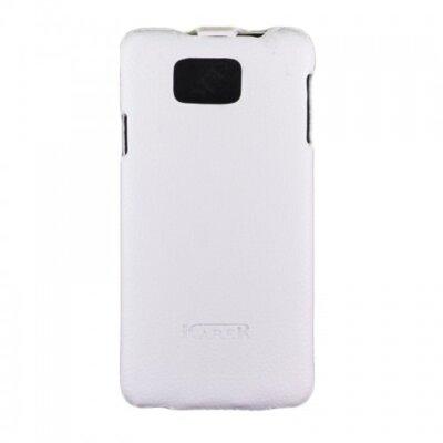 Чехол Carer Base PU для Samsung Galaxy Alpha G850 White 2