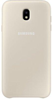 Чехол Samsung Dual Layer Cover Gold для Galaxy J7 (2017) J730 1