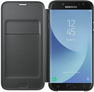 Чехол Samsung Wallet Cover Black для Galaxy J7 (2017) J730 2