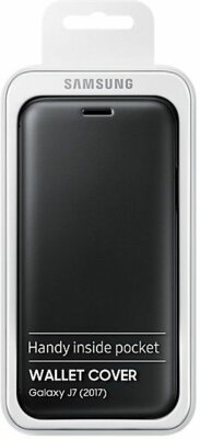 Чохол Samsung Wallet Cover Black для Galaxy J7 (2017) J730 5