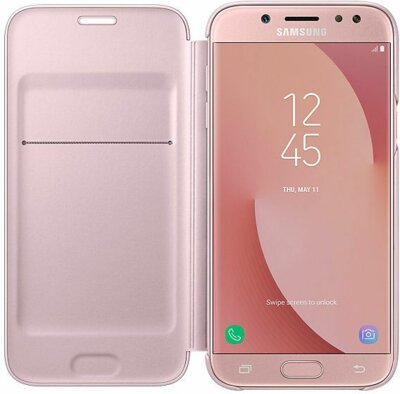Чохол Samsung Wallet Cover Pink для Galaxy J5 (2017) J530 2
