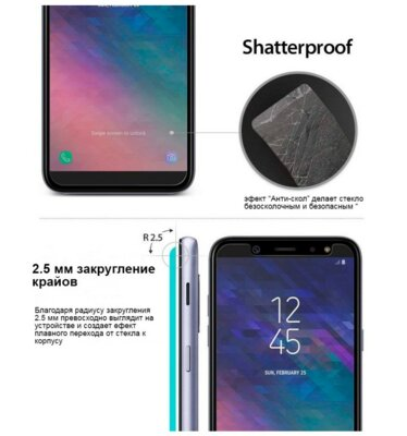 Защитное стекло Ringke Premium Tempered Glass для Samsung Galaxy A6+ A605 3