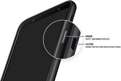 Чехол Samsung Dual Layer Cover для Galaxy J8 2018 J810 Black 15