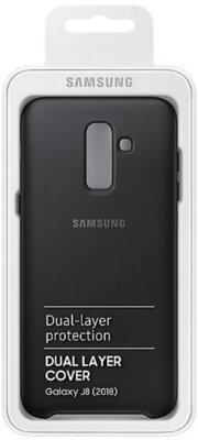 Чехол Samsung Dual Layer Cover для Galaxy J8 2018 J810 Black 16