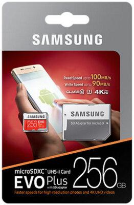 Карта пам'яті Samsung microSDXC 256GB EVO Plus Class 10 UHS-I U3 MB-MC256GA/RU 8