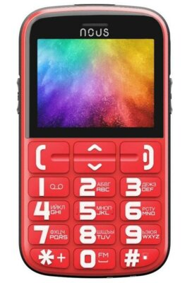 Мобильный телефон Nous Helper NS 2422 Red Black 1