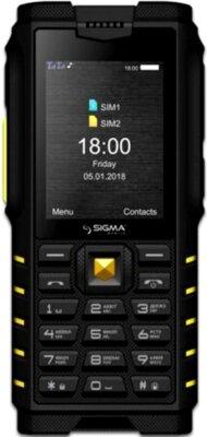 Мобильный телефон Sigma X-treme DZ68 Black/Yellow 1