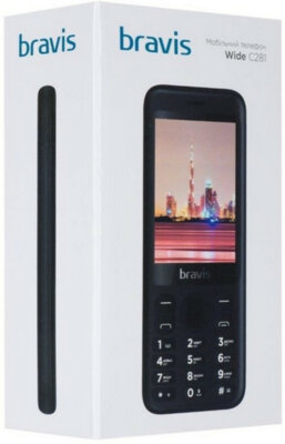 Мобильный телефон Bravis C281 Wide Dual Sim Black 8
