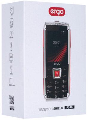 Мобильный телефон Ergo F246 Shield Dual Sim Black/Red 6