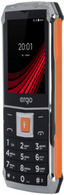 Мобильный телефон Ergo F246 Shield Dual Sim Black/Orange 4