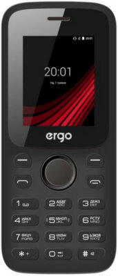 Мобильный телефон Ergo F182 Point Dual Sim Black 1