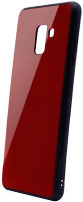 Чехол Intaleo Real Glass для Samsung Galaxy A8+ A730 Red 1