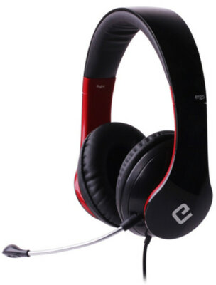 Навушники ERGO VM-390 Red 1