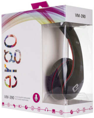 Навушники ERGO VM-390 Red 3