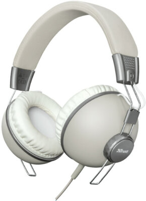 Наушники TRUST Noma Headphones Retro Ivory 1