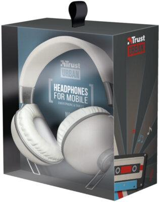 Наушники TRUST Noma Headphones Retro Ivory 6
